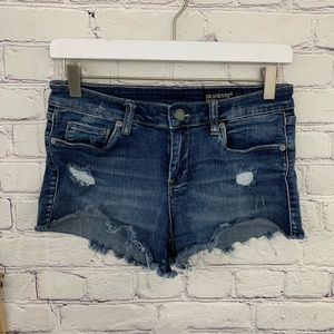 Blank NYC Astor cut off distressed shorts